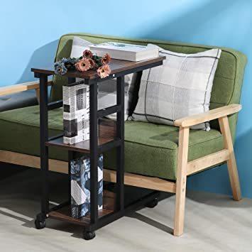 【新品未使用】ウォールナット幅60×奥行30×高さ70cmナイトテーブルソファサイドベッドサイドテーブルサイドテーブル_画像2