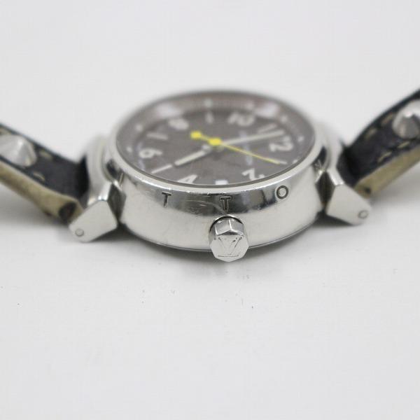 ルイヴィトン タンブール クォーツ レディース 腕時計 ブラウン文字盤 純正スハリライン2重巻きベルト Q1211【いおき質店】_画像7