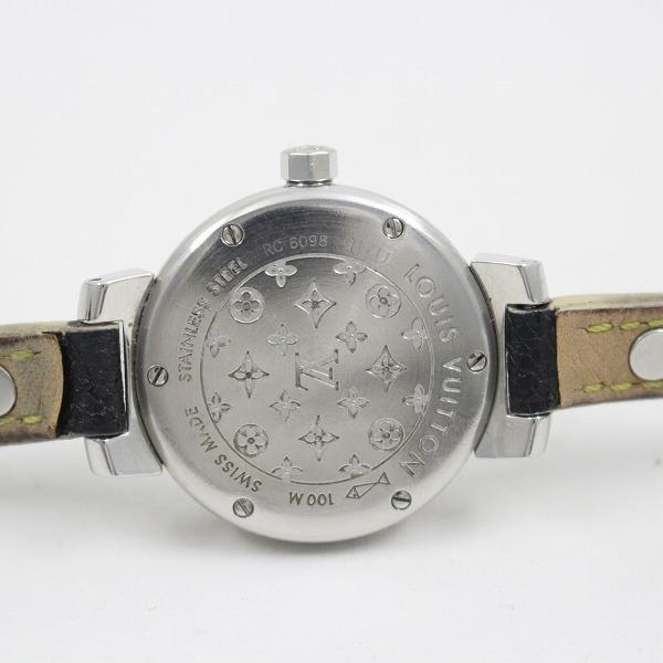 ルイヴィトン タンブール クォーツ レディース 腕時計 ブラウン文字盤 純正スハリライン2重巻きベルト Q1211【いおき質店】_画像9
