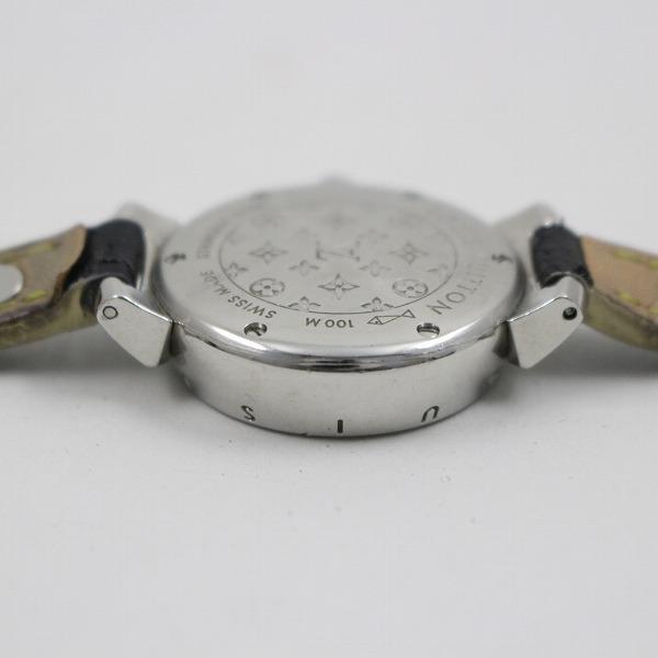 ルイヴィトン タンブール クォーツ レディース 腕時計 ブラウン文字盤 純正スハリライン2重巻きベルト Q1211【いおき質店】_画像8