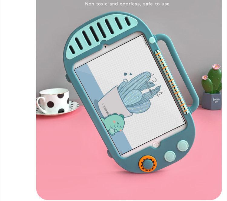 iPad 10.2インチ(第7世代/2019)ケース アイパッド カバー タブレットPC 手提げケース シリコン スタンドタイプ 耐衝撃 ipad7 ケース_画像5