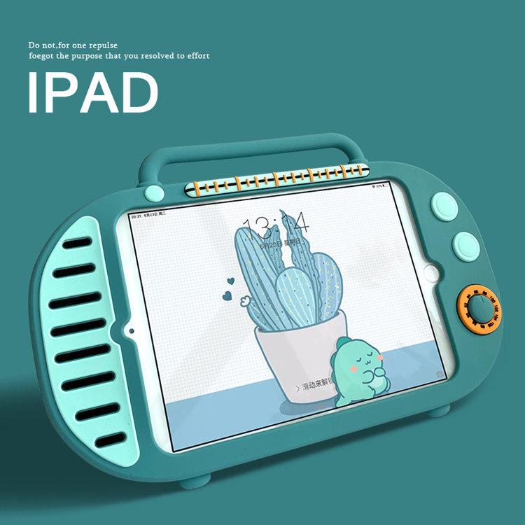 iPad 10.2インチ(第7世代/2019)ケース アイパッド カバー タブレットPC 手提げケース シリコン スタンドタイプ 耐衝撃 ipad7 ケース_画像1