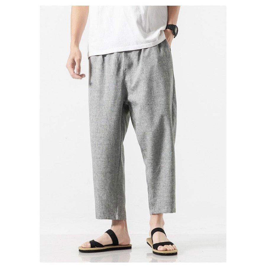 サルエルパンツ メンズ イージーパンツ 涼しいズボン サルエルパンツ メンズ イージーパンツ 涼しいズボン アンクル丈 夏ズボン メンズフ