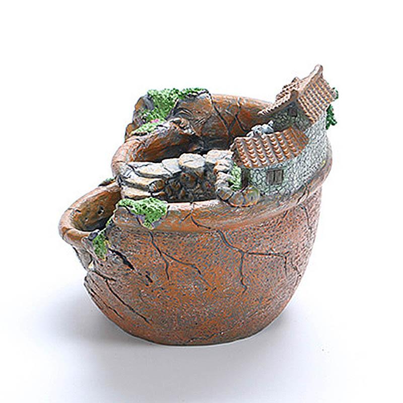 サボテン 寄せ植えの演出に☆多肉植物 民家 庭 昔風 小花 植木鉢 装飾 プランター オブジェ フラワーポット_画像6