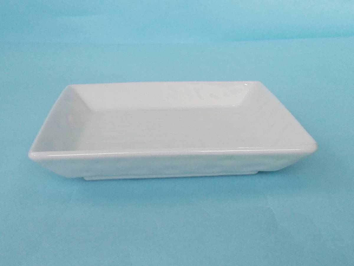 美濃焼 白釉 角銘々皿 皿 小皿 10枚 まとめ売り 未使用_画像5