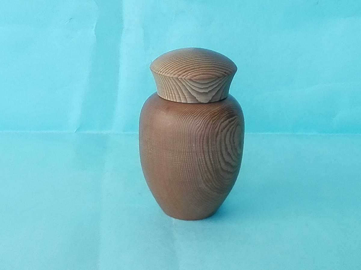 木製  蓋付つま楊枝入れ  イチイの木(オンコ)  高さ9cm_画像6