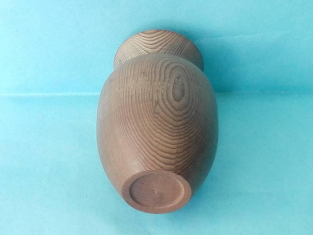 木製  蓋付つま楊枝入れ  イチイの木(オンコ)  高さ9cm_画像4