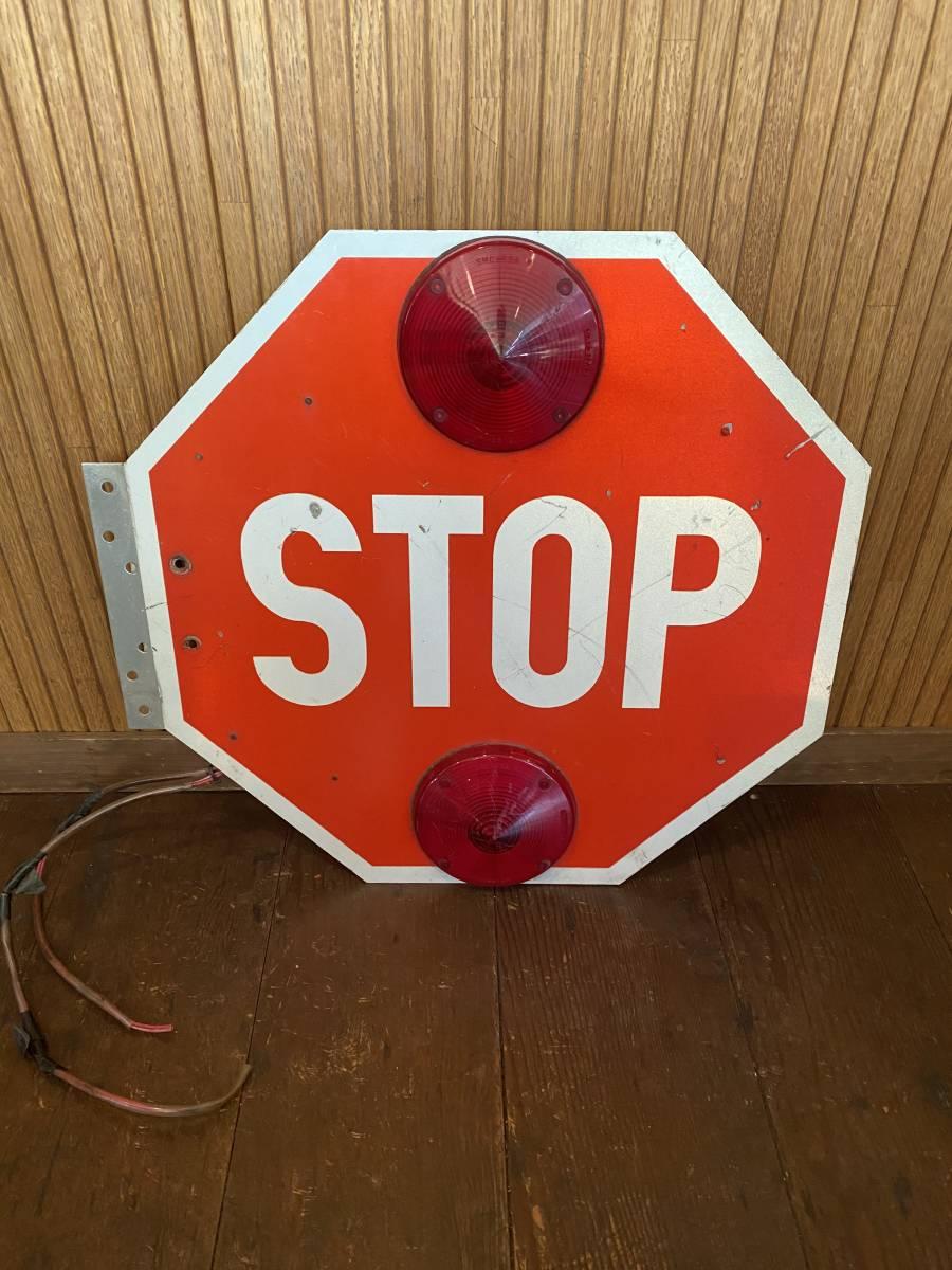 ★激レア★スクールバス ストップ サイン SB-4★STOP sign school bus ビンテージ 当時物 US アメリカ 雑貨 ガレージ 世田谷ベース_画像1
