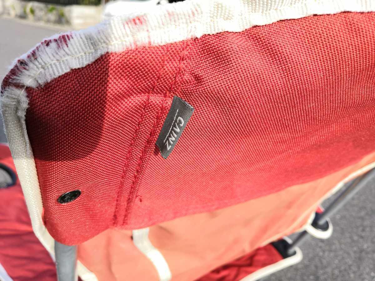 ☆★カインズ ハイバックチェア 赤色 キャンプチェア アウトドアチェア 折りたたみいす ★☆