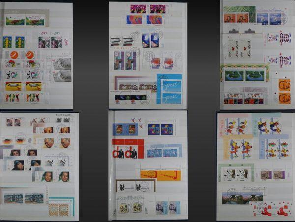 (982)外国切手 アルバム2冊 コレクター放出品 1990年代~2000年代 ドイツ 単片・ブロック・小型シート 使用未使用混在 保存状態良好