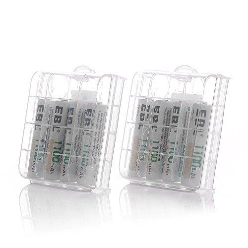 単4電池1100mAh×8本 EBL 単4形充電池 充電式ニッケル水素電池 高容量1100mAh 8本入り 約1200回使用可能_画像7