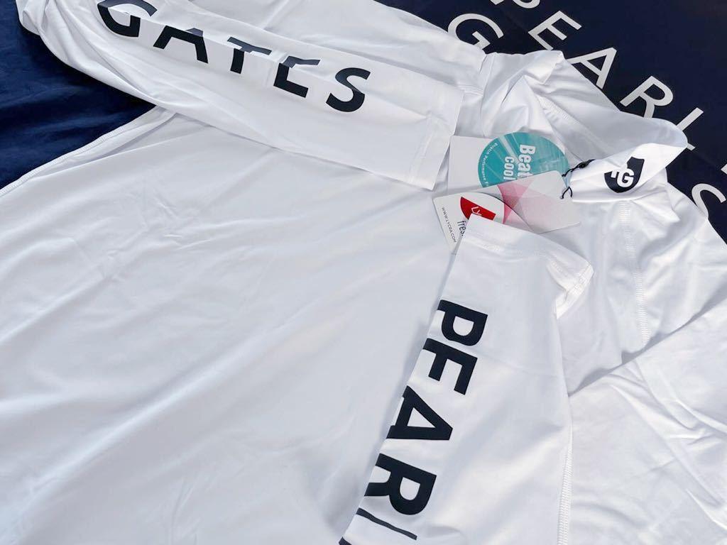 本物 新品 18710166 PEARLY GATES パーリーゲイツ 6(LL) 超人気 最新 高機能 接触冷感 吸水速乾 抗菌防臭 UV 袖ロゴ ハイネック長袖シャツ