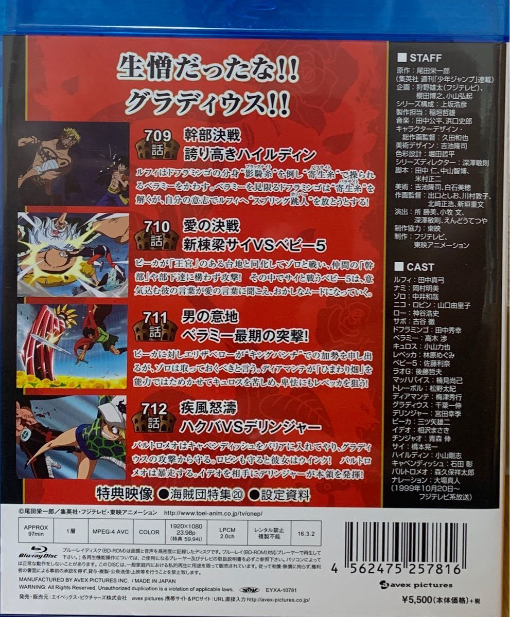 ONE PIECE ワンピース 17THシーズン ドレスローザ編 piece.21 [Blu-ray]