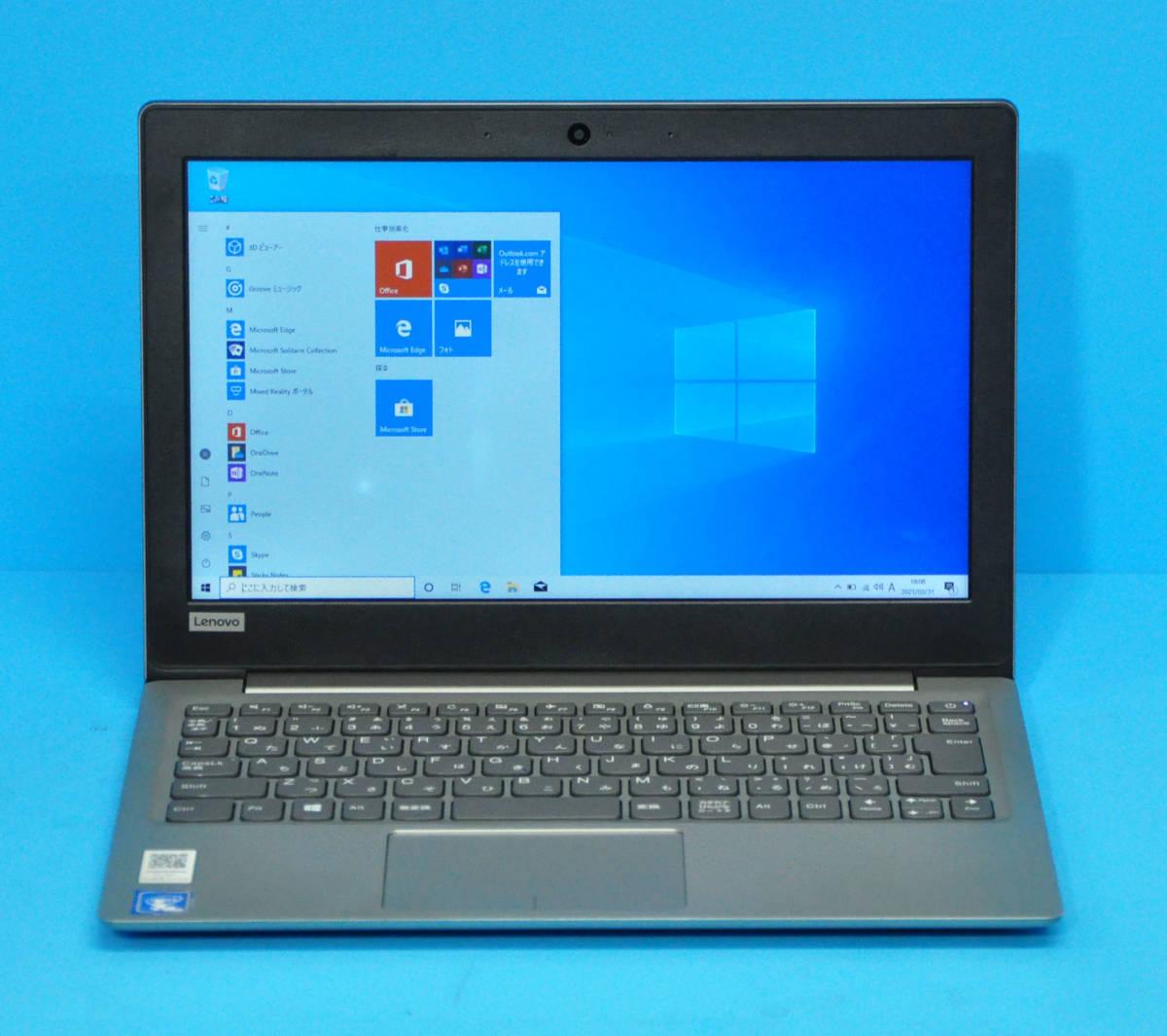 ♪ 上位モデル Ideapad 120S ♪ Dual-Core Celeron N3350/ メモ4GB/ SSD:256GB/ カメラ/ Wlan/ Office2019/ Win10_画像1
