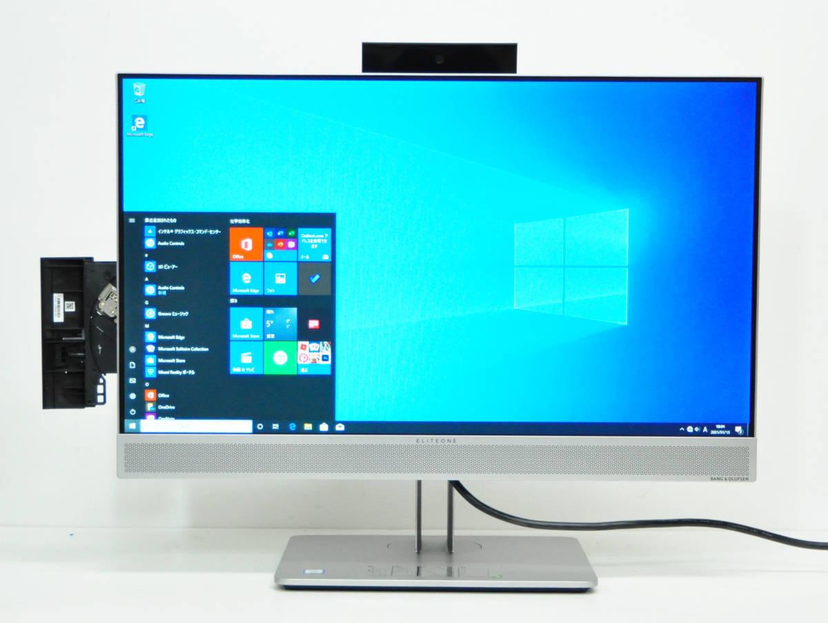 美品 HP EliteOne 800 G4 All-in-One フルHD 一体型 第8世代 Corei5-8500/メモリ8GB/SSD256GB NVMe/カメラ/無線/マルチ/Office2019/Win10. _画像1
