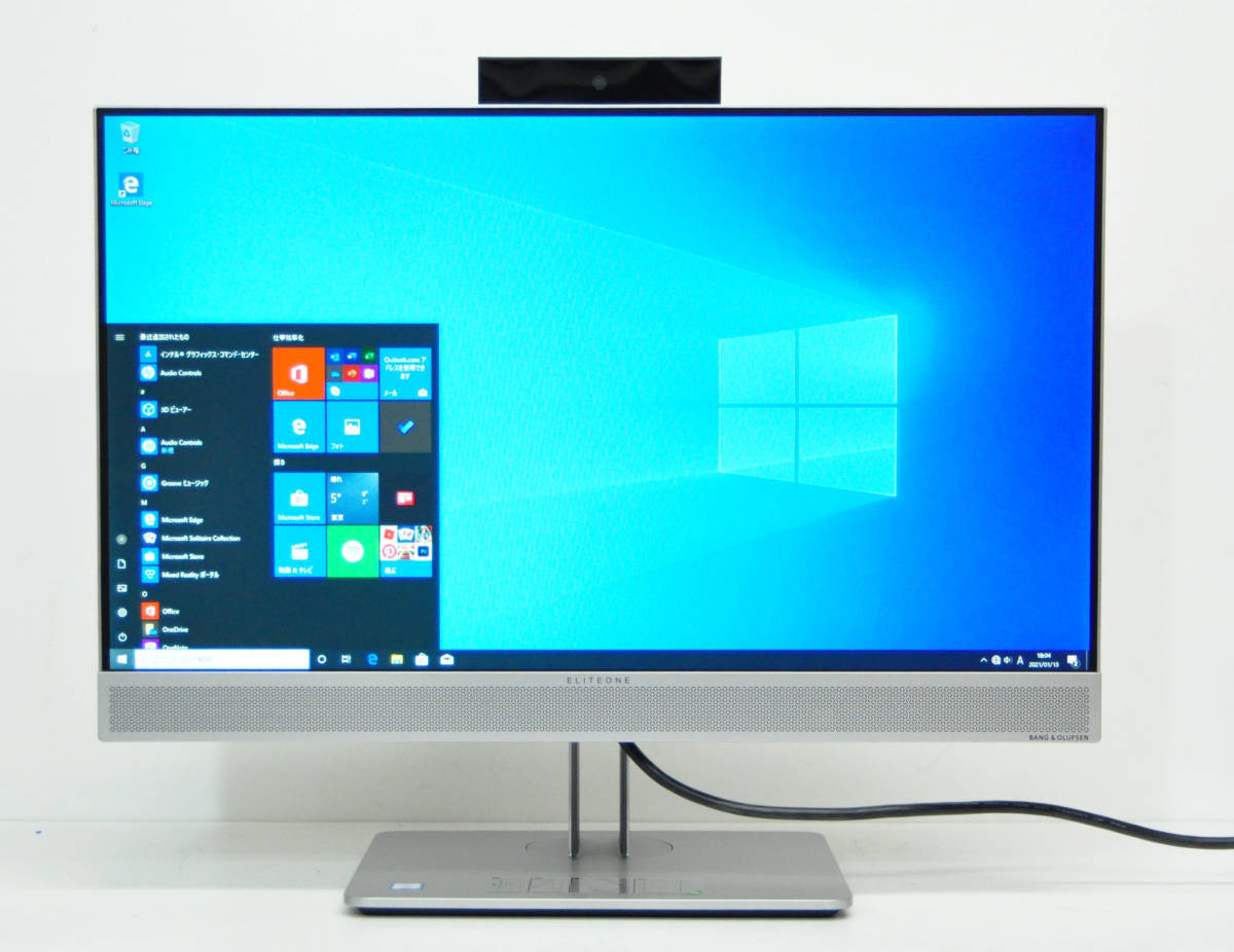 美品 HP EliteOne 800 G4 All-in-One フルHD 一体型 第8世代 Corei5-8500/メモリ8GB/SSD256GB NVMe/カメラ/無線/マルチ/Office2019/Win10. _画像9