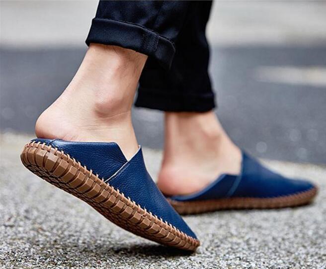 メンズ カジュアルシューズ スリッポン ローファー ドライビングシューズ 革靴 紳士靴 柔らかい スリッパ 大きいサイズ ブラウン 24~28.5cm_画像7