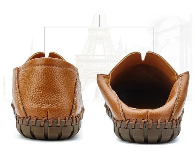 メンズ カジュアルシューズ スリッポン ローファー ドライビングシューズ 革靴 紳士靴 柔らかい スリッパ 大きいサイズ ブラウン 24~28.5cm_画像9