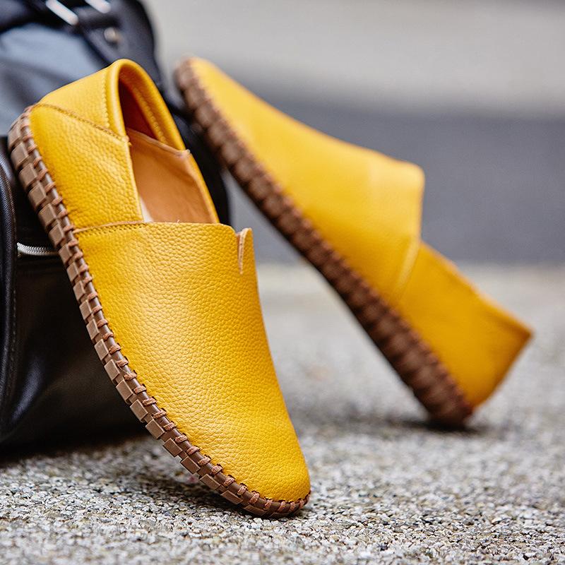 メンズ カジュアルシューズ スリッポン ローファー ドライビングシューズ 革靴 紳士靴 柔らかい スリッパ 大きいサイズ ブラウン 24~28.5cm_画像6