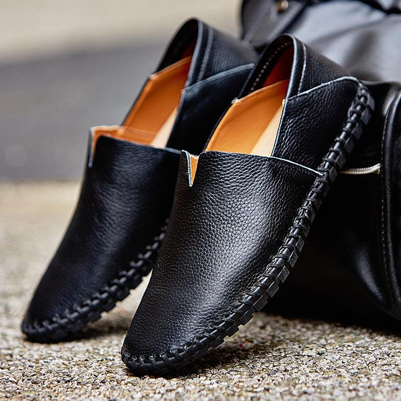 メンズ カジュアルシューズ スリッポン ローファー ドライビングシューズ 革靴 紳士靴 柔らかい スリッパ 大きいサイズ ブラウン 24~28.5cm_画像3