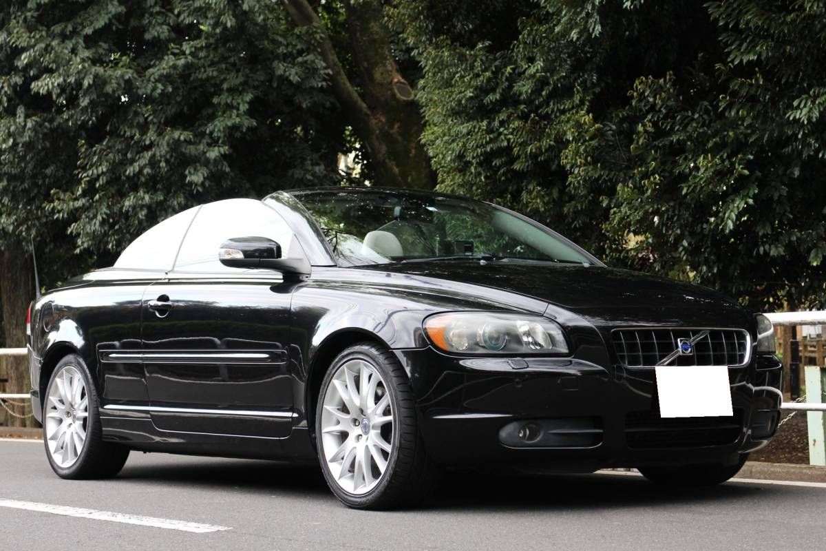 [360° inside see possible ][ super beautiful car low running 79,224.]H20 model Volvo C70 T-5 electric cabriolet excellent condition 220 horse power turbo [ inspection . peace 5/5 long time period ] gray leather / Tokyo