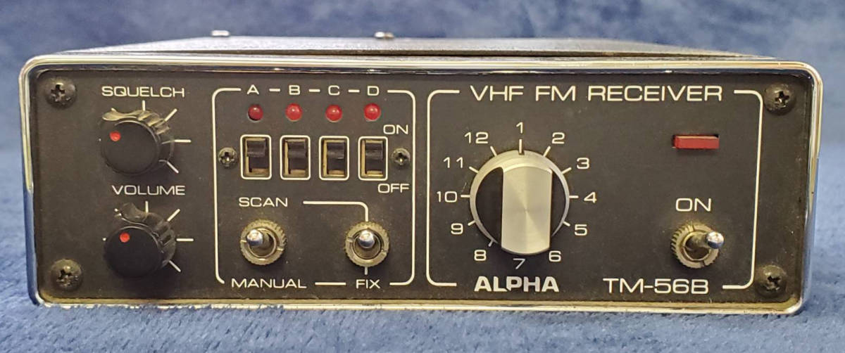 VHF/FMレシーバー TM56B アンテナ付 ALPHA 消防無線 _画像1