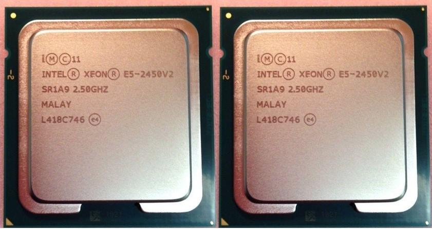 同ロット美品Intel xeon E5-2450v2  2個セット■ 正規完動品@送料無料 ■_画像1