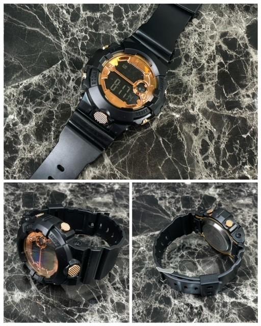 スポーツ腕時計 LED デジタル 腕時計 時計 ミリタリー 自転車 スポーツ アウトドア キャンプ 男女兼用 ランニング ブラック 22_画像5