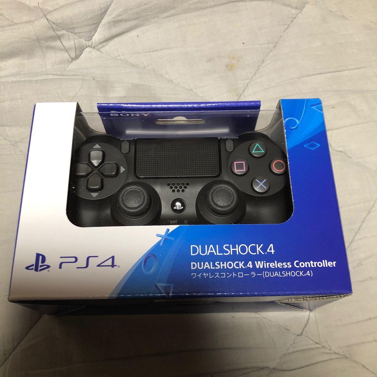 PS4 ワイヤレスコントローラー(DUALSHOCK4) ジェット・ブラック CUH-ZCT2J 新品未開封