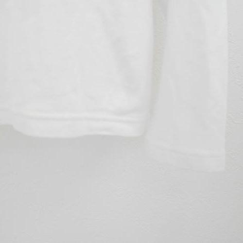 メゾピアノ mezzopiano S 140cm 長袖 Tシャツ 白 ホワイト レース ロゴ 刺繍 ゴールド トップス_画像4