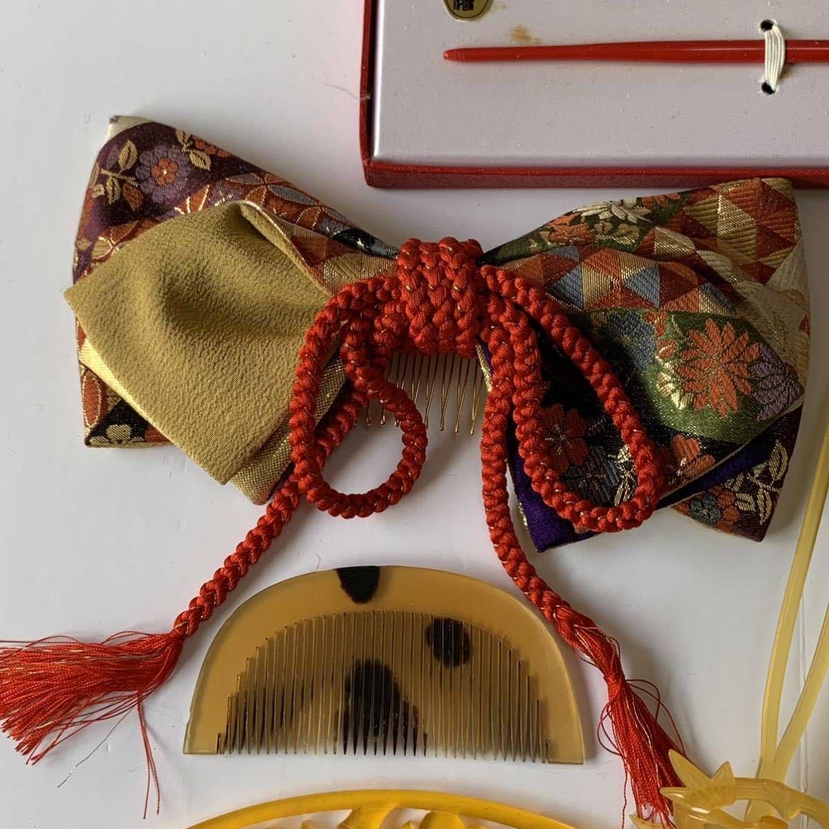 かんざし くし 和装小物 アンティーク レトロ 簪 櫛 螺鈿細工 鼈甲 螺鈿 着物 髪飾り_画像2