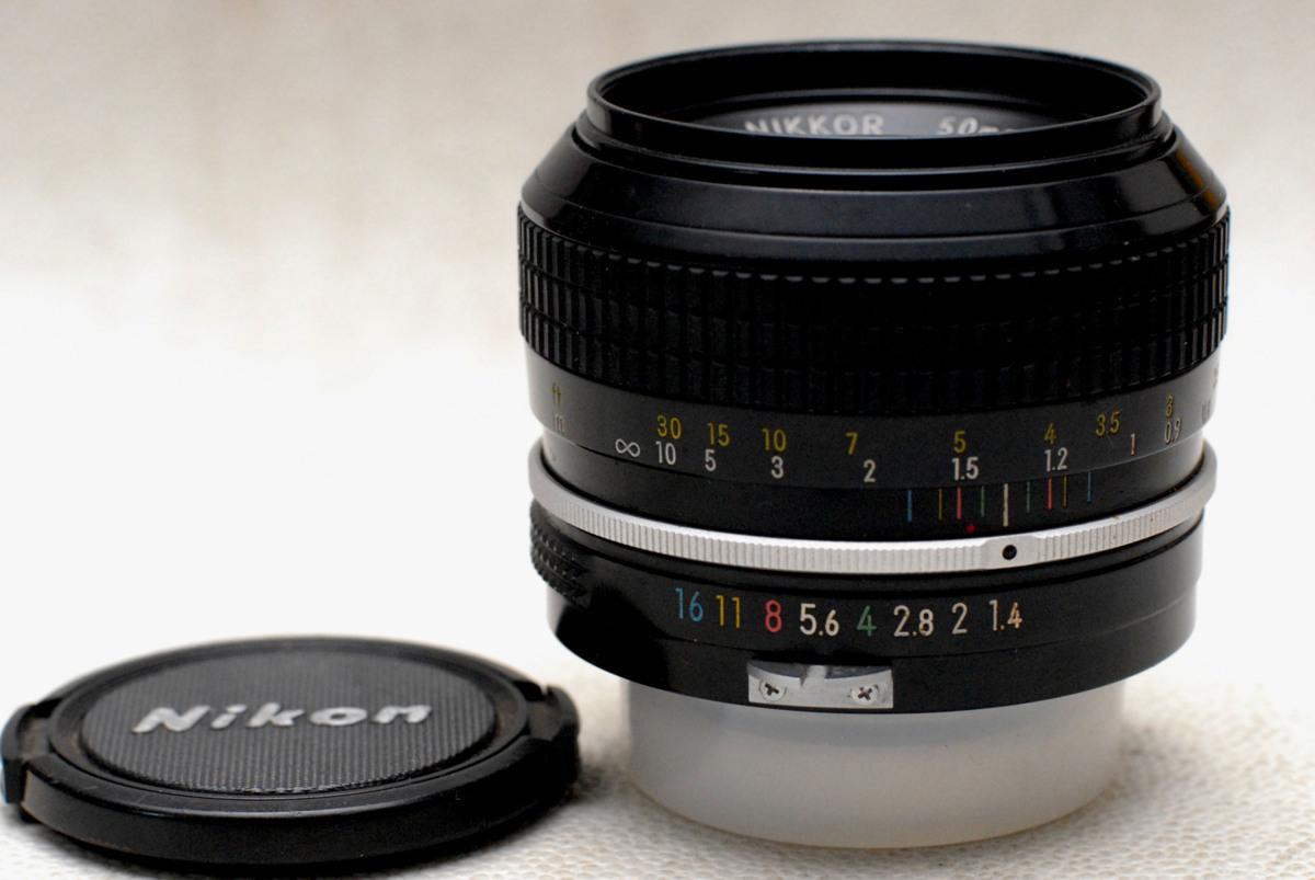 Nikon ニコン 純正 NIKKOR MF 50mm 高級単焦点レンズ 1:1.4 作動品