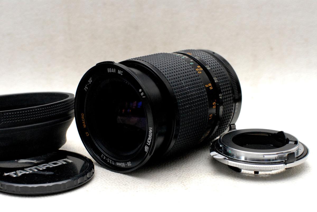 Nikon ニコン 専用Fマウントアダプター + 28-80mm 高級ズームレンズ (MACRO) 希少な作動品 (Ai)