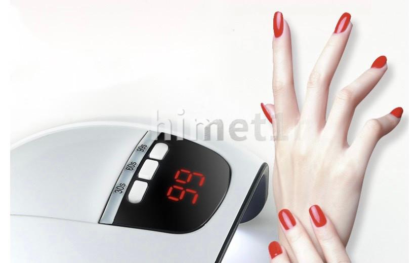LEDネイルドライヤー UVライト UVランプ 硬化ライト ネイルライト ジェルネイル LED 自動センサー 54W UVレジン ハンドメイド 紫外線ライト_画像4