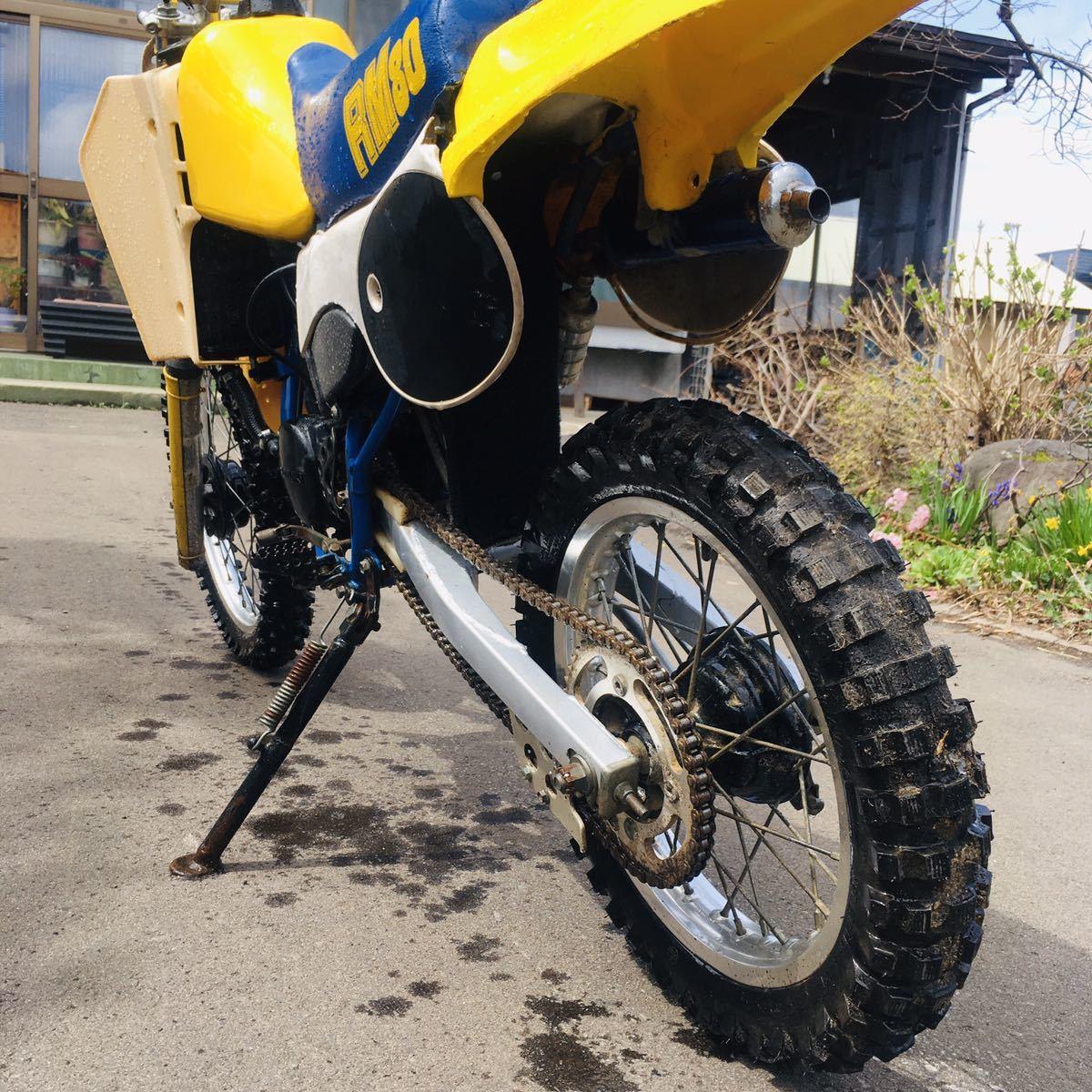 「やっぱ2ストだよなぁ!?タイヤほぼ新品!水冷スズキ RM80モトクロス林道レーサーCRKXよりも」の画像3