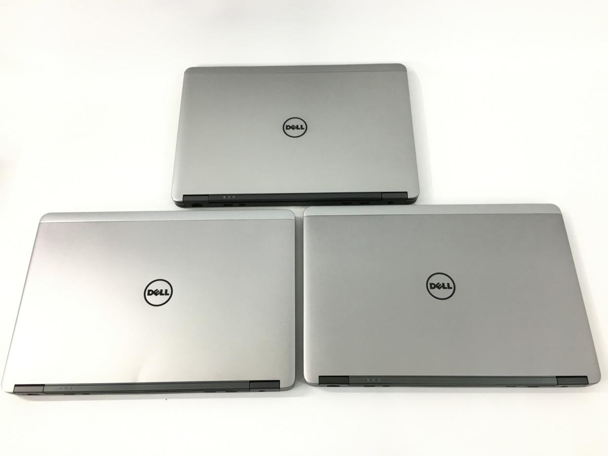 3台セット DELL デル Latitude E7440 ノートPC 14インチ HDDなし シルバー系 まとめ売り