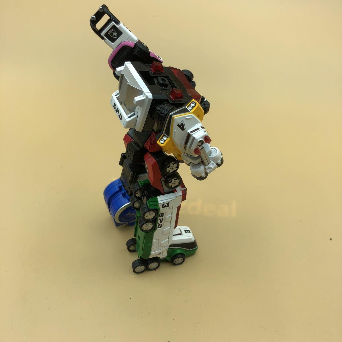 戦隊シリーズ スーパーロボット超合金 特捜戦隊デカレンジャー デカレンジャーロボ パーツ欠損有_画像6