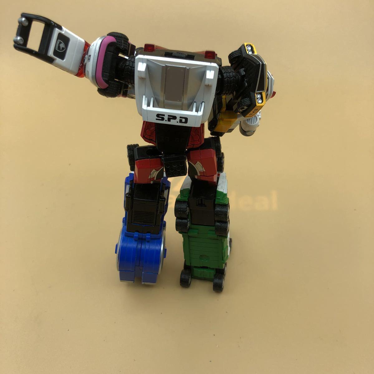 戦隊シリーズ スーパーロボット超合金 特捜戦隊デカレンジャー デカレンジャーロボ パーツ欠損有_画像5