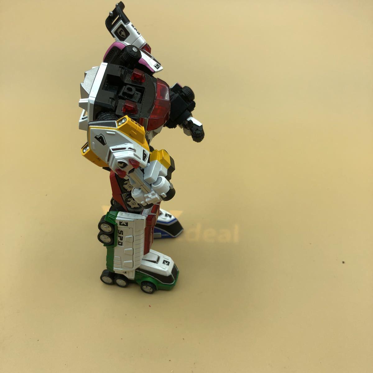 戦隊シリーズ スーパーロボット超合金 特捜戦隊デカレンジャー デカレンジャーロボ パーツ欠損有_画像7