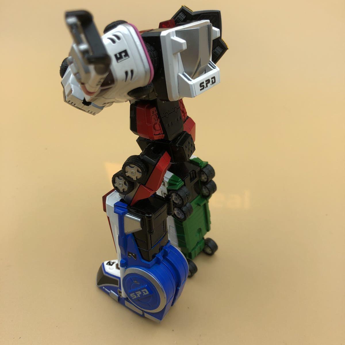 戦隊シリーズ スーパーロボット超合金 特捜戦隊デカレンジャー デカレンジャーロボ パーツ欠損有_画像4