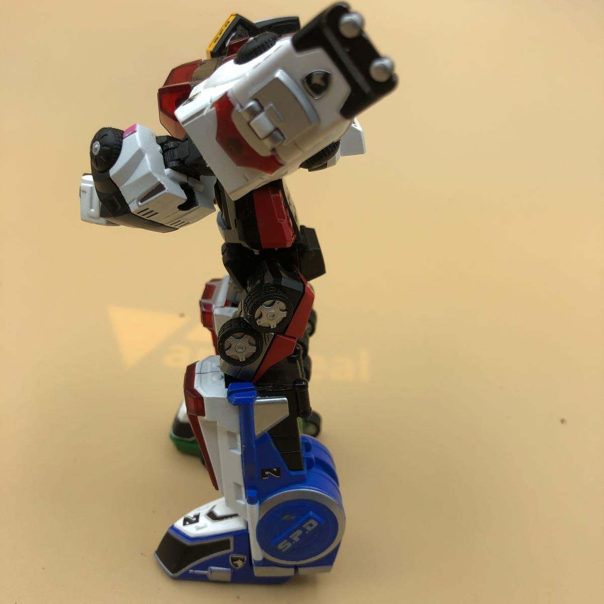 戦隊シリーズ スーパーロボット超合金 特捜戦隊デカレンジャー デカレンジャーロボ パーツ欠損有_画像3