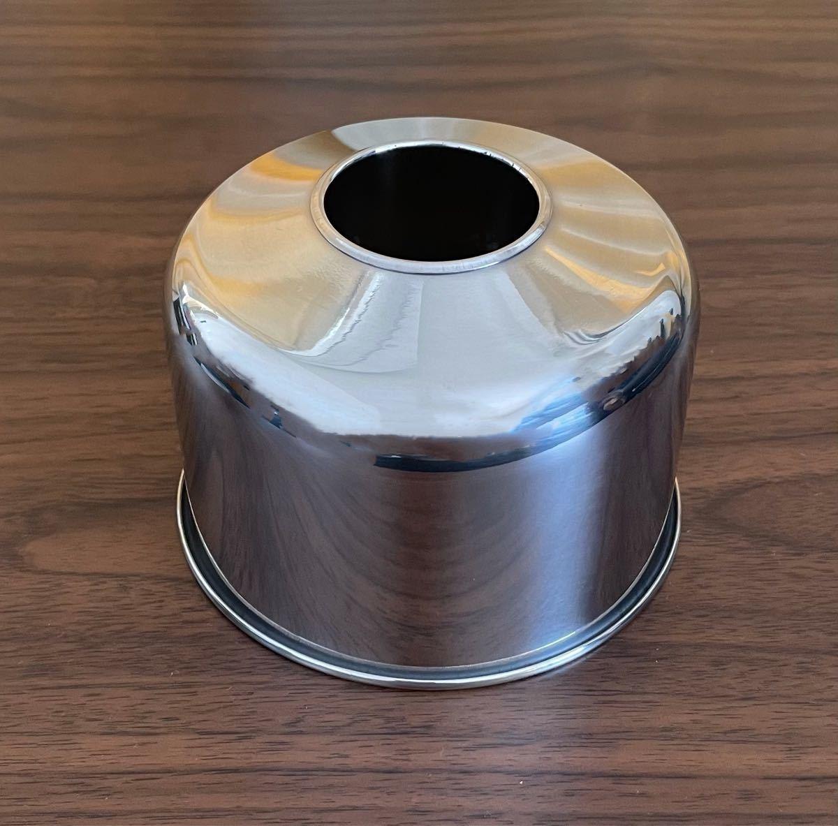 OD缶カバー 金属カバー 鏡面仕上げ 色シルバー 250用ランタン ガス缶カバー