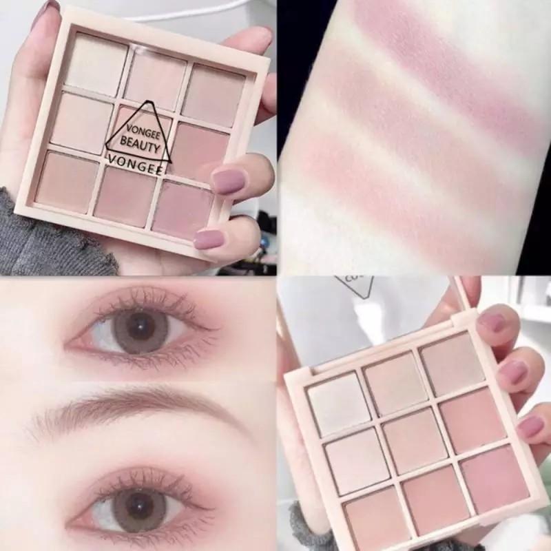 アイパレット 9色 マッド natural pink アイシャドウ