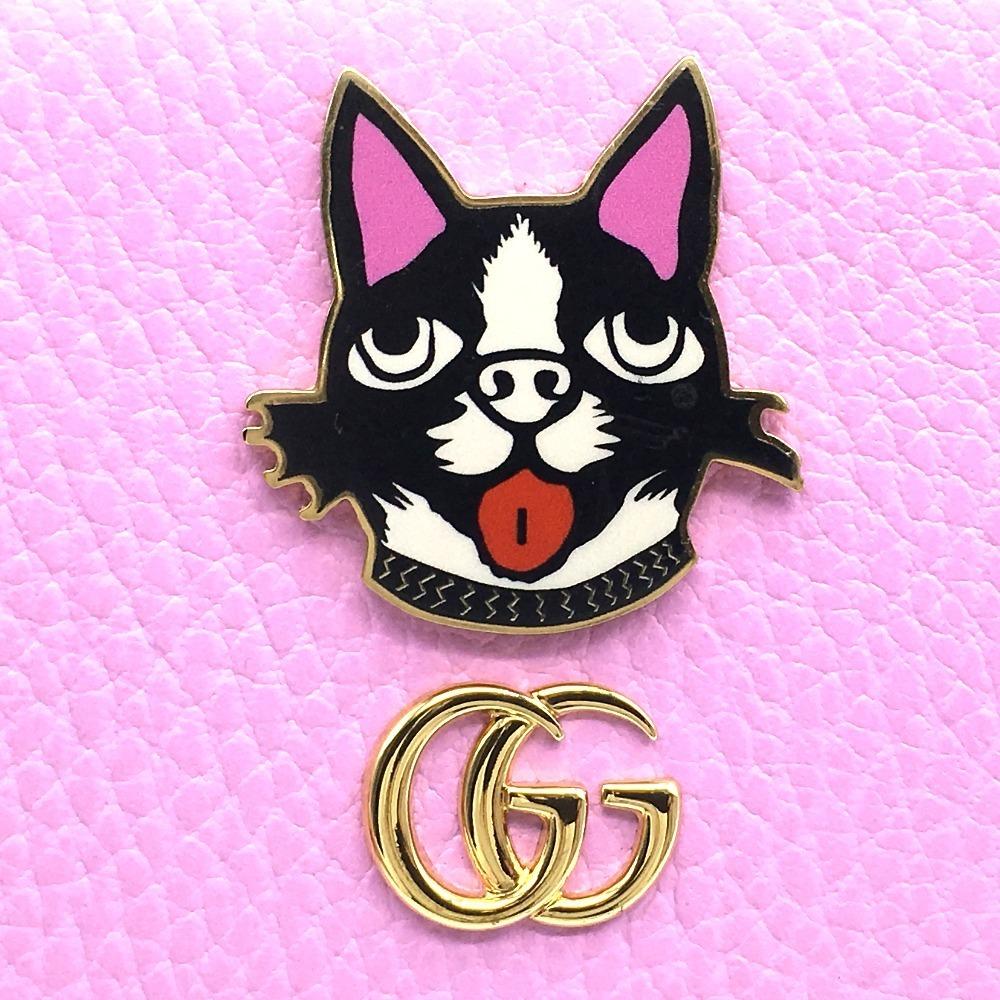 未使用 GUCCI グッチ 499337 GGマーモント ボスコ ジップアラウンド ウォレット ラウンドファスナー 長財布(小銭入れあり) ピンク_画像5