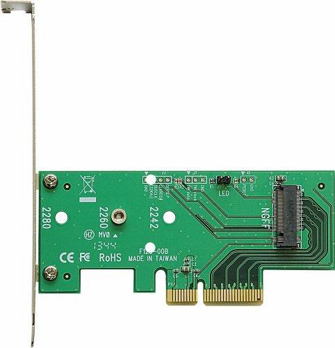 玄人志向 STANDARDシリーズ PCI-Express x4接続 M.2スロット増設インターフェースボード M.2-PCIE_画像1
