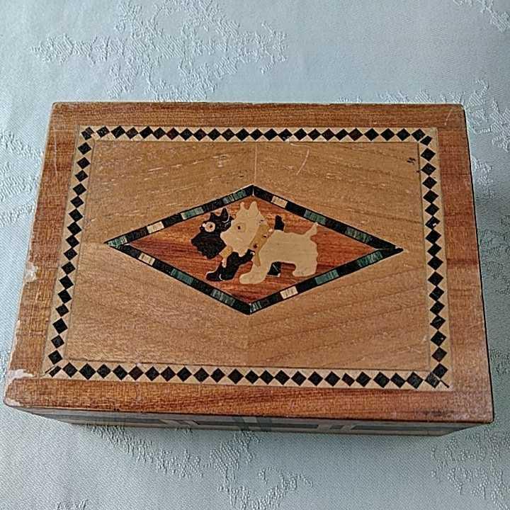 ヴィンテージ 箱根細工 2個 寄木細工 木製 伝統工芸品 小物入 _画像2