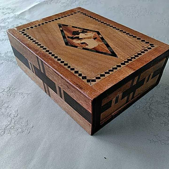 ヴィンテージ 箱根細工 2個 寄木細工 木製 伝統工芸品 小物入 _画像3