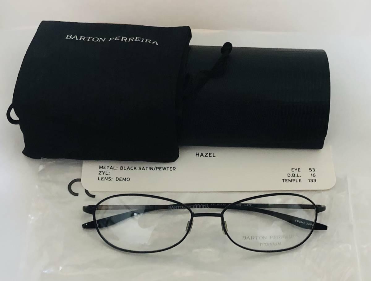 定価 42,500円 バートンペレイラ ヘイゼル チタン製 日本製メガネ 黒 Barton Perreira 米国ブランド _画像9