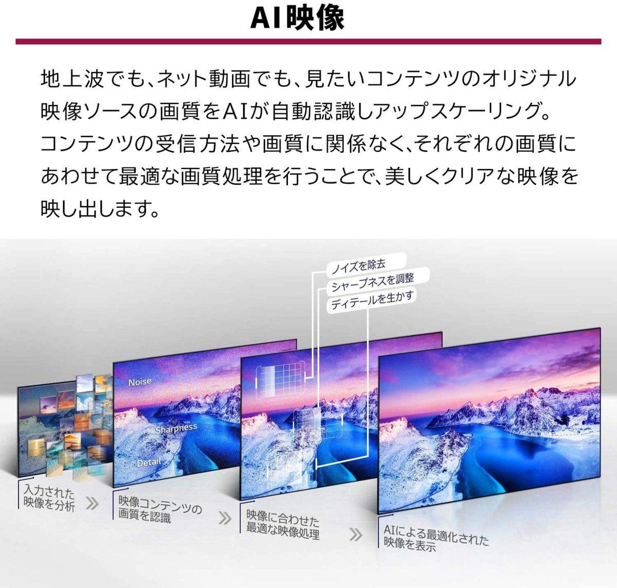 LG 55V型 4Kチューナー内蔵有機ELテレビ OLED55BXPJA 無線LAN/Bluetooth/Dolby Atmos/YouTube/Amazonプライム/Netflix 2021/4から1年保証_画像3