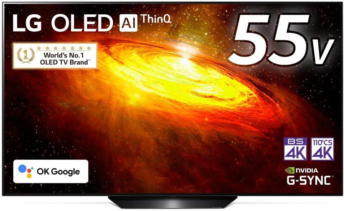 LG 55V型 4Kチューナー内蔵有機ELテレビ OLED55BXPJA 無線LAN/Bluetooth/Dolby Atmos/YouTube/Amazonプライム/Netflix 2021/4から1年保証_画像1